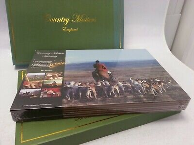 £9.99 • Buy Set Of 6 Farm Country Matters Cork Backed Table Mats Placemats Hunting New Boxed