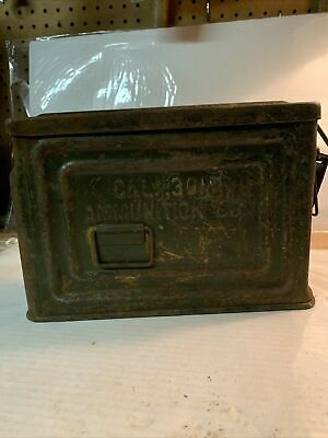 $25 • Buy Vintage US WWII Metal 30 Cal. M1 Ammo Ammunition Can Box Flaming Bomb