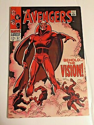 £289.73 • Buy Avengers #57 1968 1st Appearance Of The Vision Beauty Flat Clean Tight No Crease