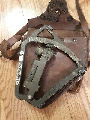 $110 • Buy US ARMY USMC GUNNERS QUADRANT M1 IN LEATHER CASE M18 WWI Or WWII