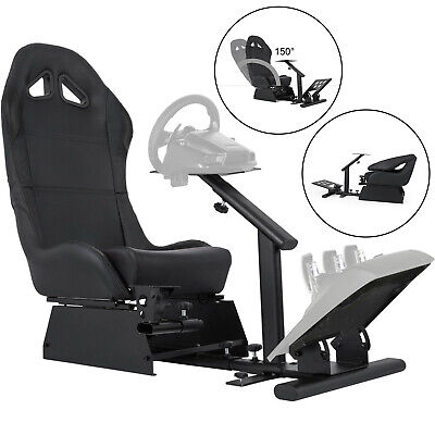 £205.99 • Buy VEVOR Racing Simulator Cockpit Gaming Chair With Stand Foldable Reinforced G920