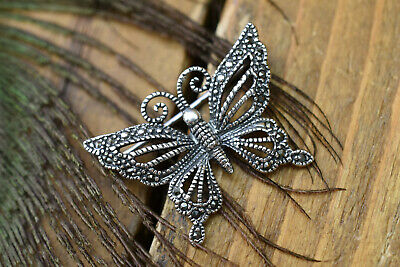 £15.99 • Buy Silver Plated , Marcasite Butterfly Brooch