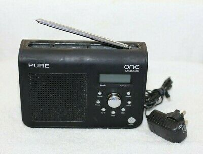 £14.99 • Buy Pure One Classic DAB FM Digital Portable Radio In Black - Needs A Good Clean