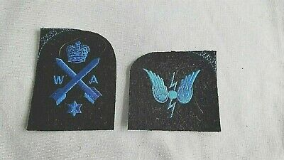 £4.50 • Buy TWO 1990s WRNS PATCHES..RADIO OPERATOR AND WEAPONS ANALYST