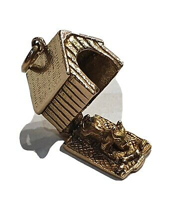 £110 • Buy 9ct Gold Dog Kennel Charm