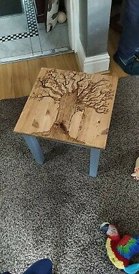 £18 • Buy Coffee Table - With One Off Pyrography Tree Design