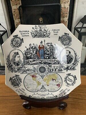 £9.99 • Buy Queen Victoria Jubilee Year Plate The British Empire 1887
