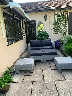 £1000 • Buy New Fusion 4 Cube Patio Dining & Sofa Set, To Seat 8 - With Table Parasol & Stor