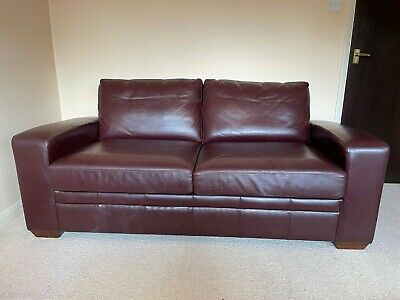 £75 • Buy Next Chestnut Leather Sofa Bed