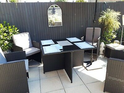 £380 • Buy Cube Rattan Garden Furniture Set Chairs Sofa Table Outdoor Patio Wicker 8 Seater