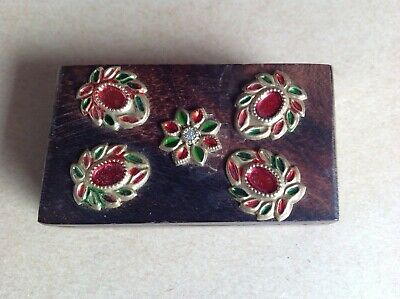 £7.99 • Buy Decorated Wooden Snuff Box, Vintage