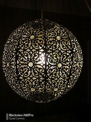 £20 • Buy Moroccan Sphere Hanging Ceiling Lamp Shade . 27cms Pendant Light Shades