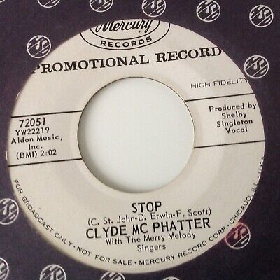 £13.49 • Buy CLYDE McPHATTER - THE BEST MAN CRIED / STOP -MERCURY PROMO 72051. VG+