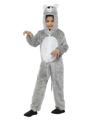 £12.99 • Buy Childs Little Grey & White Mouse Costume Rat Rodent Fancy Dress Age 7 8 9