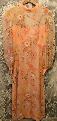 £25 • Buy Vintage Hand Made Victorian/Edwardian Style Floral Full Length Dress