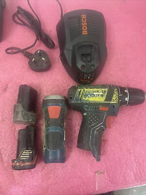 £65 • Buy Bosch GSR 10.8-2 Drill, GLI10.8v Torch With 2 Batteries And Charger
