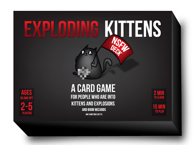 AU32.99 • Buy Game - Exploding Kittens Cards (NSFW Desk) Party Strategy Adult Card Game Fun