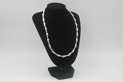 £0.99 • Buy Modernist .925 Sterling Silver PANEL LINK CHAIN W/ Droplet Style Links (38g)