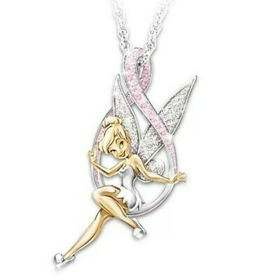£2.99 • Buy Lovely Silver Tone Crystal Tinkerbell Fairy Necklace. In Organza Gift Bag