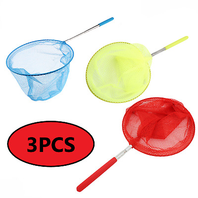 £6.29 • Buy 3Pcs Telescopic Fishing Net Kids Children Butterfly Insect  Catching Net Tools