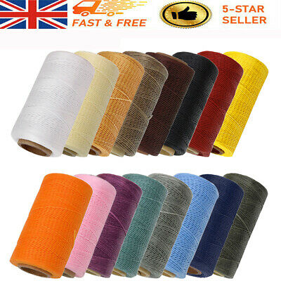 £5.49 • Buy 260 Meter 1mm Waxed Wax Thread Cords Sewing Craft DIY Leather Hand Stitching