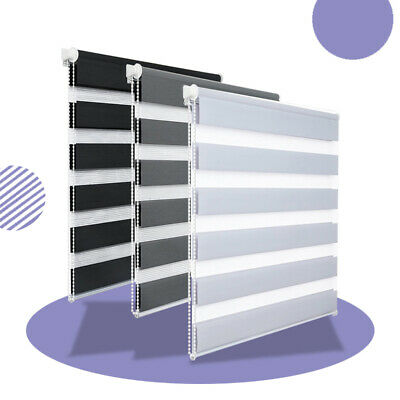 £15.99 • Buy Day And Night Zebra/Vision Window Roller Blinds Thermal 3 Colours, 150cm Drop