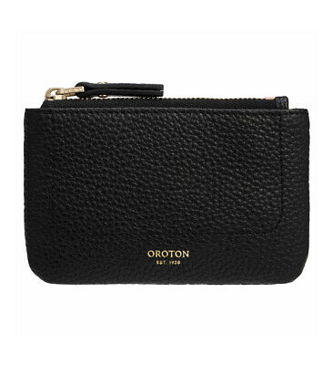 AU40 • Buy Oroton Womens Black Pebble Leather Coin Purse. New With Tags.