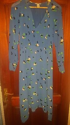 £15 • Buy H&M Printed High Low Midi Dress Wore Once Size 12
