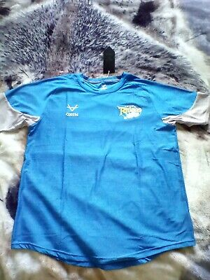 £13 • Buy Leeds Rhinos Rugby Training T Shirt Tee 3 Mens Extra Large Oxen With Tags
