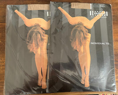 £12 • Buy 2 Pairs Wolford  Individual 10 Tights, Small, Beige/cosmetic
