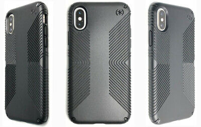 AU14.70 • Buy Speck Presidio GRIP Impact Protection Case Cover For Apple IPhone XS & X BLACK
