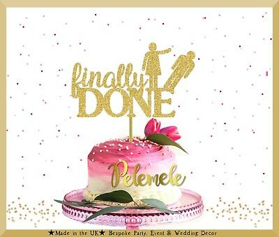 £9.80 • Buy Finally Done Cake Topper, Divorce Party, Divorce Cake Topper, Single Cake Topper