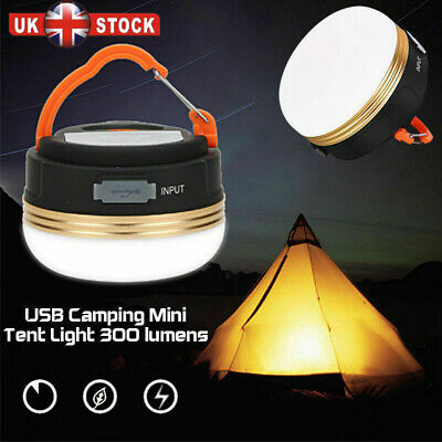 £10.95 • Buy USB Rechargeable LED Camping Light Tent Lantern Outdoor Super Bright Night Lamp