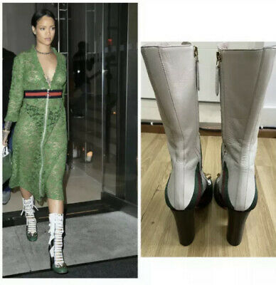 £255 • Buy Gucci Finnlay Rihanna Leather High Boots Size UK 6.5 EUR 39.5