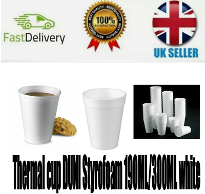 £4.49 • Buy THERMAL Styrofoam Insulated Cup For Hot Or Cold Drink 190ml/300ml Pack Of 25