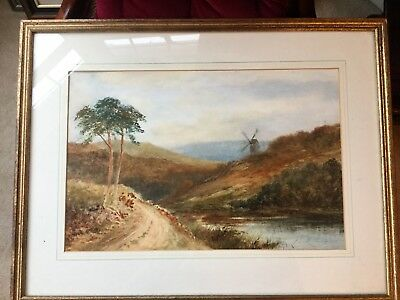 £44.99 • Buy Framed Watercolour Behind Glass By William Henry Dyer 1890-1930 View Of Dartmoor