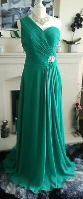 £12.99 • Buy Prom Bridesmaid Party Long Green Chiffon Sequin Dress Size 6