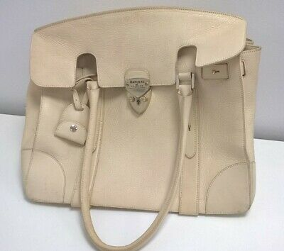 £20.01 • Buy  ASPINAL OF LONDON REGENT CREAM LEATHER LARGE TOTE BAG With Lock And Key #119