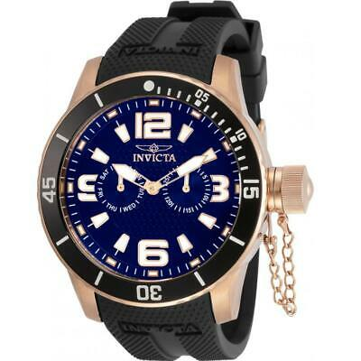 $ CDN1.21 • Buy Invicta Specialty 30701 Men's Round Day/Date Black Silicone Rose Gold Watch
