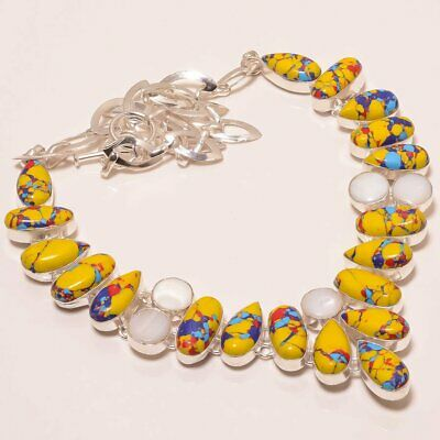 $0.01 • Buy Mosaic Balloon Turquoise & Mabe Pearl 925 Sterling Silver Necklace 17.99  (5077)