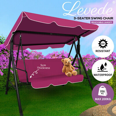 AU149.99 • Buy Levede Swing Chair Hammock Outdoor Furniture Garden Canopy Cushion Bench Red