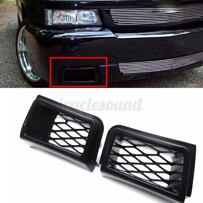 $40.83 • Buy 2x Front Bumper Caliper Grille Air Duct Black For Chevy Silverado 1500 2003-2007