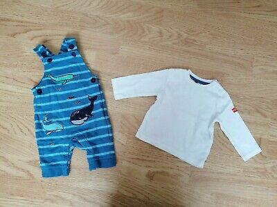 £3.50 • Buy Baby Boy Debenhams/Maine  Whales  Dungarees Set 0-3 Months(partly Worn)