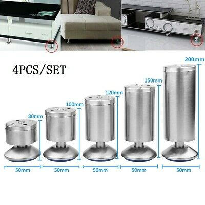 £7.79 • Buy 4Pcs Stainless Steel Feet Plinth Legs Sofa Bed Cupboard Cabinets Furniture Stand