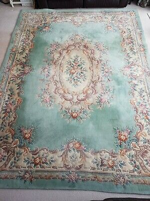 £125 • Buy Very Large Beautiful Super Washed Chinese Rug 12ft X 9ft (3.65m X 2.7m) VGC