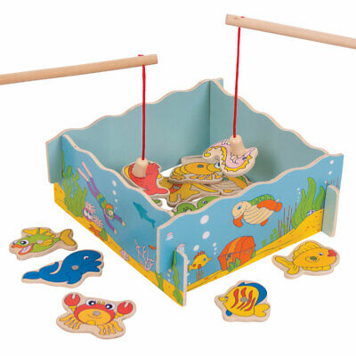 £12.49 • Buy Bigjigs Toys Wooden Magnetic Fishing Game Magnet Board Playset Rod