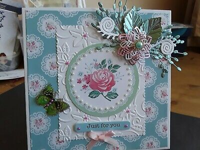 £2.49 • Buy Handmade Card Topper, Flowers, Butterfly, Sentiment, Any Occasion, Birthday Ect.