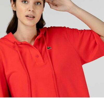 £44.99 • Buy Lacoste Womens Oversize Cotton Pique Hooded Polo Shirt Size Medium Rrp-£90