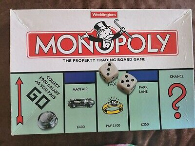 £12.99 • Buy Monopoly Board Game Classic 1996 Edition By Waddingtons  Complete