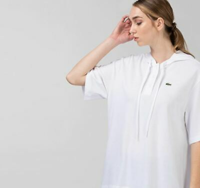 £44.99 • Buy Lacoste Womens Oversize Cotton Pique Hooded Polo Shirt Size Xs/s/xl Rrp-£90